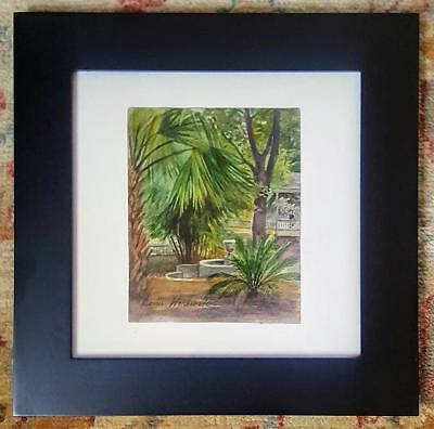 Original Vintage Watercolor PALMS by LOUIS WOLCHONOK Signed Framed LISTED Artist