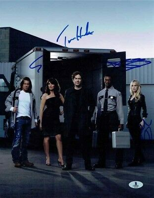Leverage TV Cast Autographed Signed 11x14 Photo Certified Authentic BAS COA