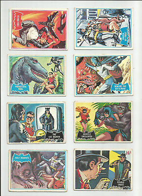 Batman Trading Card Vintage Topps Lot 17 Total 1966 Blue Red Black Bat Rodents