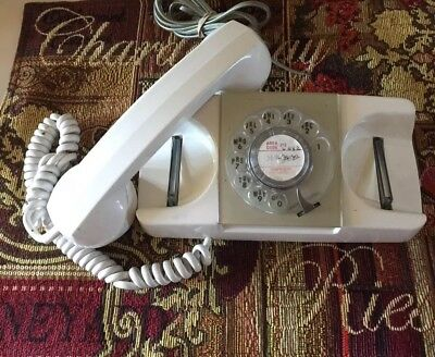 GTE STARLITE AUTO ELECTRIC ROTARY DIAL TELEPHONE White ~PRICE REDUCED!~