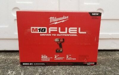 Milwaukee 2860-21 M18 5.0ah FUEL 1/2' Mid-Torque Impact Wrench (NEW IN BOX)
