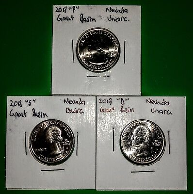 2013 Nevada Great Basin ATB Quarters - P D S - UNCIRCULATED