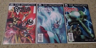 Omega Flight set 1 2 3 4 5 VF+/NM- Alpha Flight The Initiative