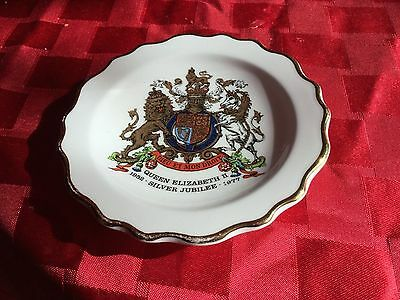 SilverJubilee Queen Elizabeth 11 Royal Stafford  Dish Commemorative