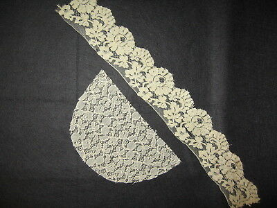 LP14 Vintage 2pc Lace Trim Ribbon Fashion Doll CLothing Hats Country crafts
