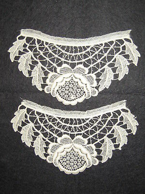 LP42 Antique LAce Crochet Trim Applique Fashion Bridal Doll Clothing 2pc