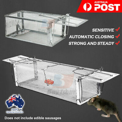 Humane Trap Live Small Animal Possum Steady Sensitive Cat Rabbit Hare Cage Catch