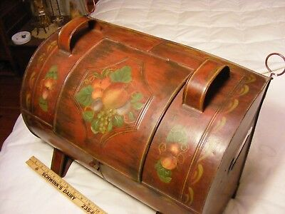 >>  Beautiful Toleware painted Hearth Reflector Oven , tinware , good condition