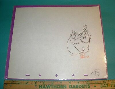 WC Fields 1938 Disney Cel Drawing Mother Goose Goes to Hollywood Silly Symphony