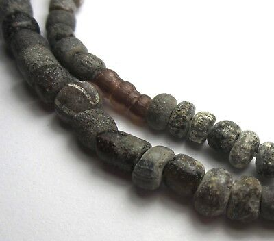 "12"" Strand Rare Amazing Tiny/small Ancient Mixed D'jenne Mali Glass Beads"