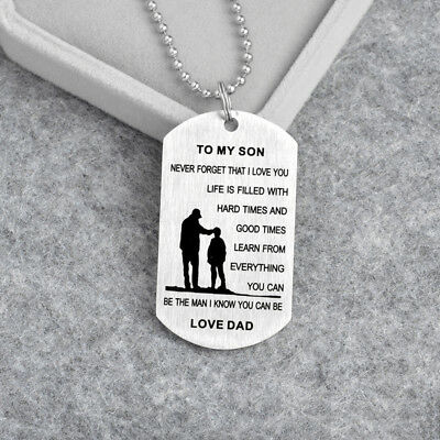 Father And Son - To My Son Tag Love Dad Pendant Love My Son Gift Necklace LG