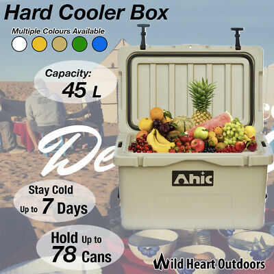 45L Hard Cooler Esky Ice Box Chilly Bin Camping Picnic Fishing 2in1 Thermal Cont