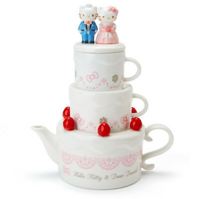 Hello Kitty & Dear Daniel Wedding Cake Type teapot & Cup set Sanrio Kawaii NEW