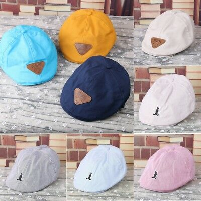 Retro Fashion Child Baby Kids Beret Cap Boy&Girl Infant Toddler Peaked Flat Hat