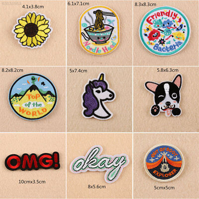 44A8 Applique Embroidery Decals SS17 Garment Stickers Sew on Cartoon Fashion