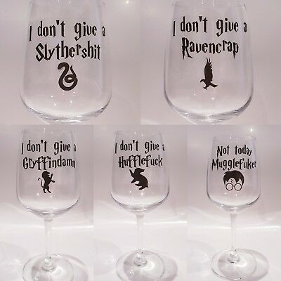 Inspired Harry potter sticker for drinking wine glass