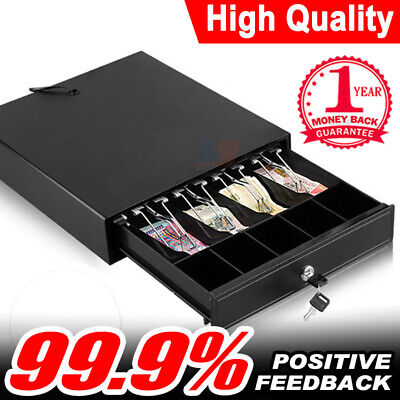 Manual Electronic Cash Drawer Cash Register POS Till Box 4 Bill & 5 Coin Tray
