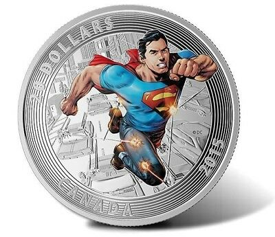 2015 $20 CAD-Iconic Superman Covers-Action Comics#1-99.99% 1 oz Silver Coin- RCM