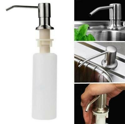 Plastic & Stainless Steel Soap Dispenser Bathroom Kitchen Sink Liquid Soap 6A