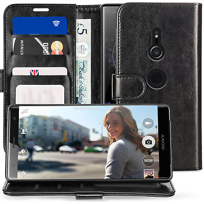 Sony Xperia XZ3 Case Best PU Leather Cash Card ID Flip Stand Wallet Phone Cover
