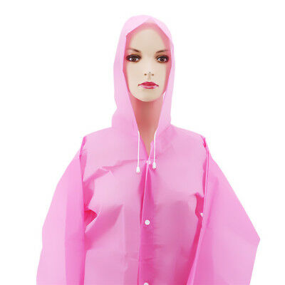Unisex Rainwear Rain Coat Transparent Raincoat Waterproof Hooded Rain Cover B