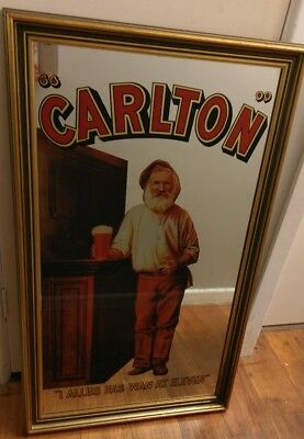 Rare Vintage Collectable Carlton CUB Bar Pub Mirror 'I Allus Has Wan At Eleven'