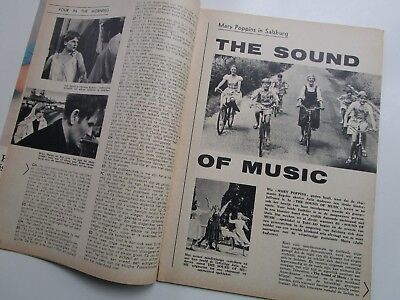 """JULIE ANDREWS & Dick Van Dyke in  """"The Sound of Music &Mary Poppins"""" CLIPPING!!!"""