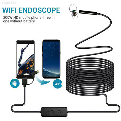 4491 8mm Surveillance Wire WIFI Endoscope Inspection Camera 1M/2M/3.5M/5M 30fps
