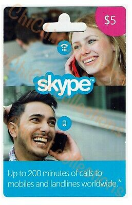 Skype Credit Gift Card Prepaid Voucher AUD$5 Fast E-Delivery Call Code 6% OFF