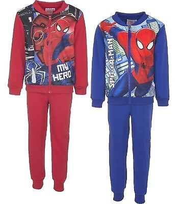 Boys Spiderman Tracksuit Set Sport Wear With Hood Size 4, 5, 6 & 8 Years