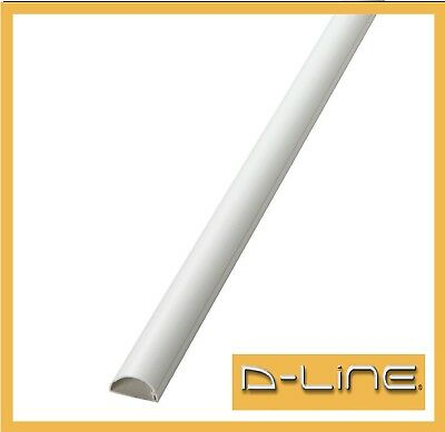 D-Line 50x25 White Cable Cover Self Adhesive Trunking 50cm, 60cm