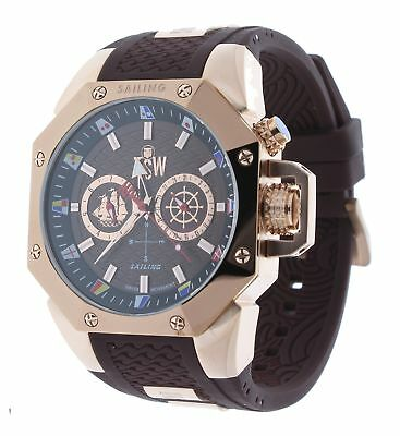 Technosport TS-100-SAIL4 Men's Watch Rose Gold/Brown Sailing Swiss Day/Date Move