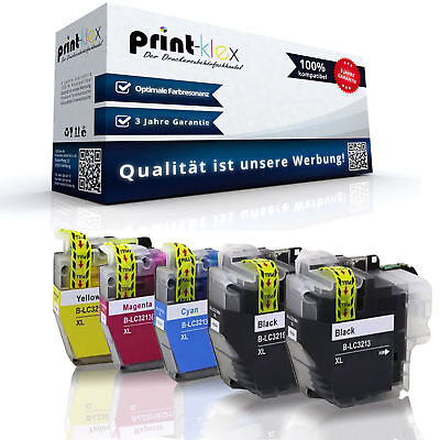5x Cartuchos de Tinta Compatibles para Brother LC3213 Set Color XXL- Impresora