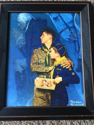 """Norman Rockwell Boys Scouts BSA Our Heritage Poster Print (11""""x14"""")-Framed"""