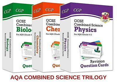 £18.60 Gcse Aqa Combined Science Flashcards Revision Biology Chemistry Physics