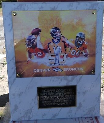 Denver Broncos Super Bowl 50 Plaque