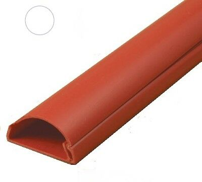 D-Line 30x15 Red Cable Cover Self Adhesive Trunking  75cm, 1m