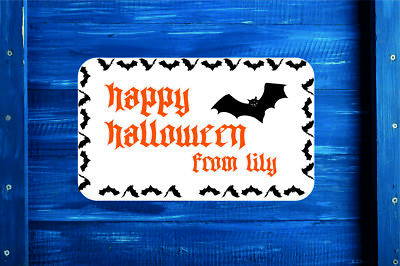 Personalised Halloween Stickers Labels Party bag 60 x 35 mm x 35 Gift Bag