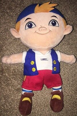 """Disney Store Cubby Plush 10"""" Captain Jake And The Never Land Pirates"""