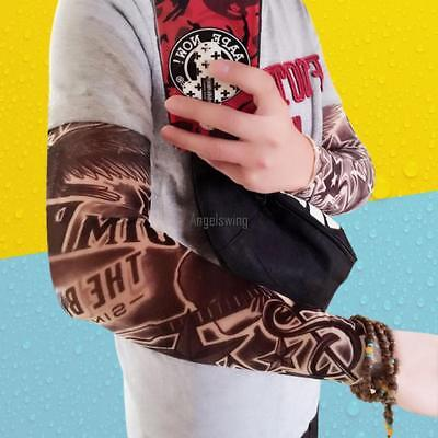 Unisex Tattoos Print Outdoor Riding Cooling Sun Protection Arm Sleeves AGSG
