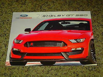 2017 Ford Performance Shelby Gt 350 Mustang Only Sales Brochure Mint! 6 Pages