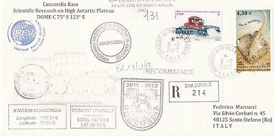 Italy - antarctic  cover  from  expedition 2011-2012 Concordia Station