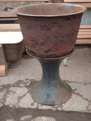 Large Rustic Reclaimed Cast Iron Garden Planter