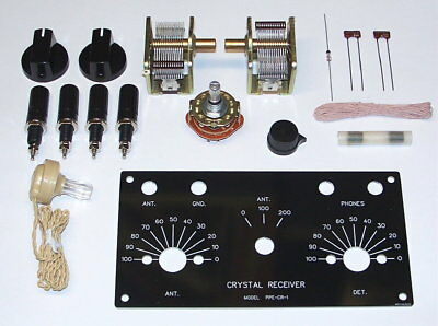 UNBUILT Heathkit CR-1 vintage AM crystal radio receiver reproduction DIY kit set