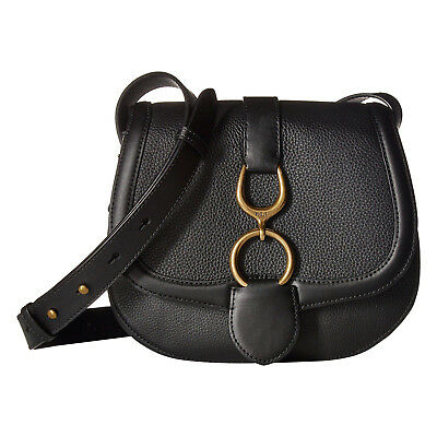 Lauren Ralph Lauren Barrington Saddle Small Crossbody Bag (Black)