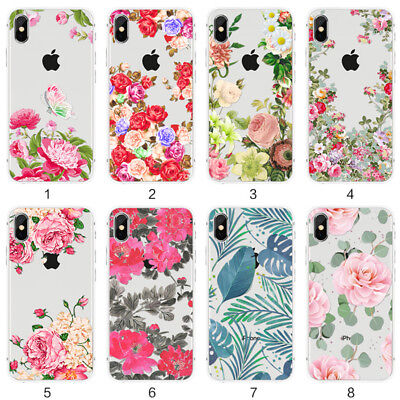 Case For Iphone X/5/5S/Se Case Thin Flower&Floral Tpu Soft Shockproof Case Cover
