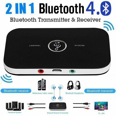Bluetooth V4.1 Transmitter & Receiver Wireless A2DP Audio 3.5mm Aux Adapter Hub