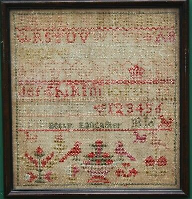 Antique Needlework Sampler Betty Lancaster 1816