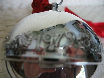 Vintage 1979 Wallace Silver Plated Bell Annual Christmas Ornament