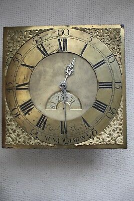 Brass Long case clock dial -  Robert Sidwell, Nuneaton